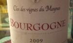 Bourgogne 2009 - Clos des Vignes du Maynes