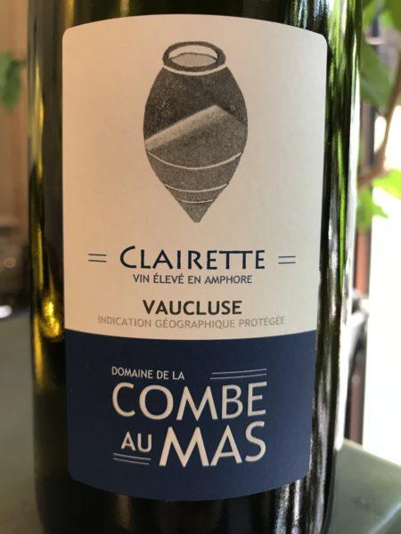 LA COMBE AU MAS - Clairette 2019