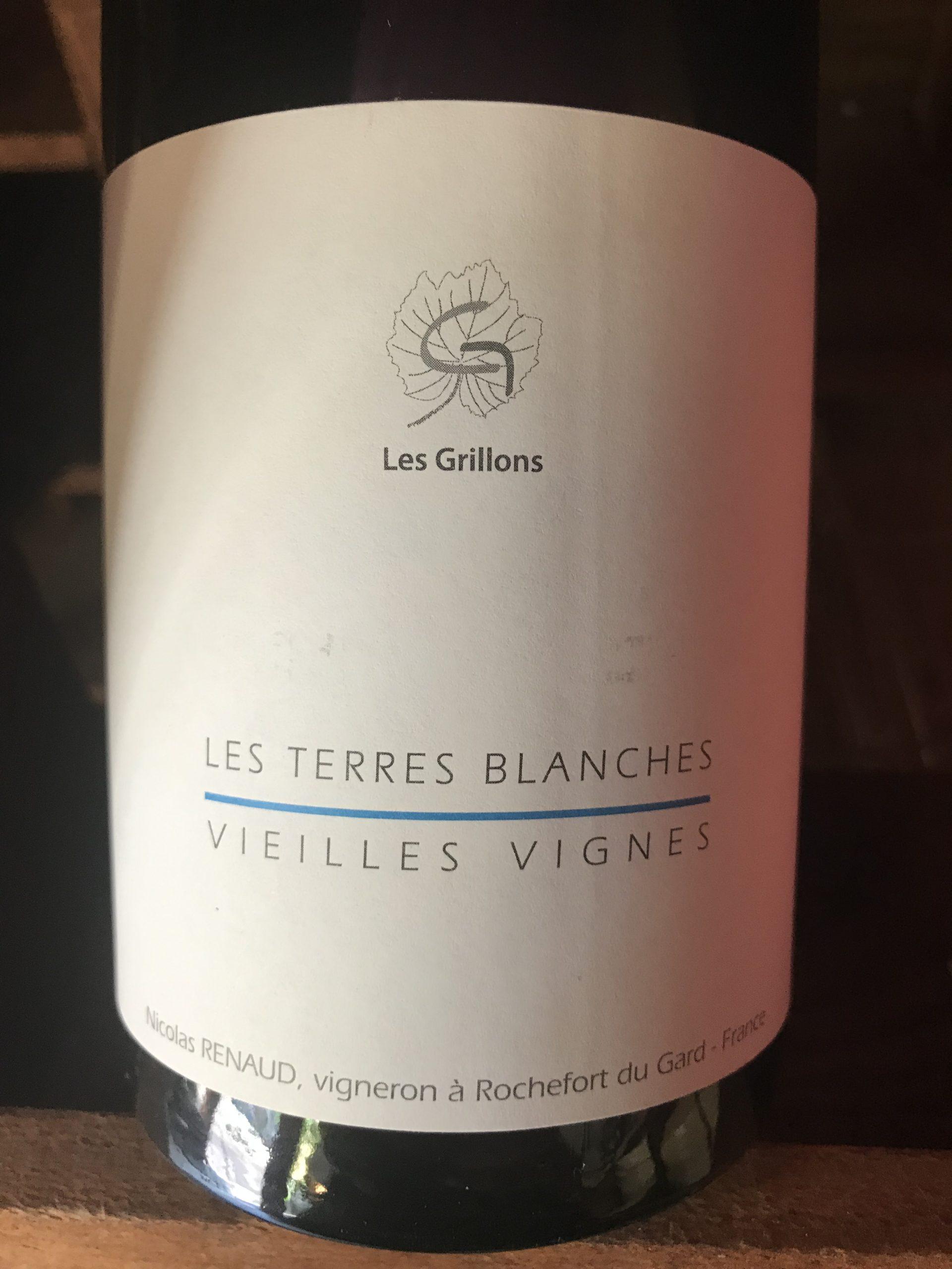 LE CLOS DES GRILLONS - TERRES BLANCHES 2018