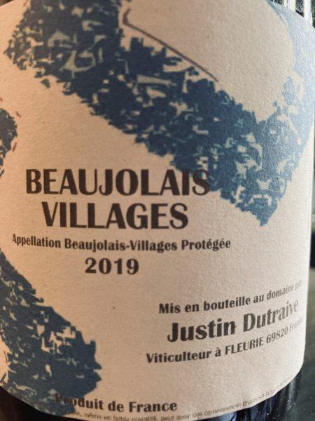 JUSTIN DUTRAIVE - BEAUJOLAIS VILLAGES 2019