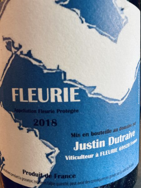 JUSTIN DUTRAIVE - FLEURIE 2018