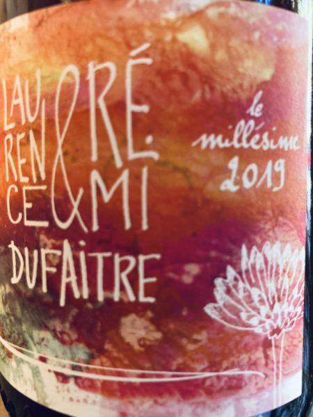 LAURENCE & REMI DUFAITRE - LES GRILLONS DU BEAUJO 2019 (front)