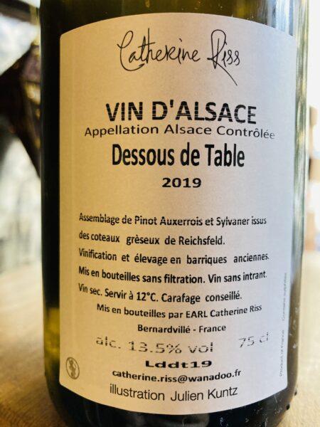 CATHERINE RISS - DESSOUS DE TABLE 2019